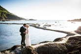 Bride-and-groom-tunnels-beaches-devon-beach-wedding