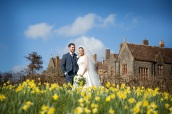 daffodils at huntsham court wedding devon